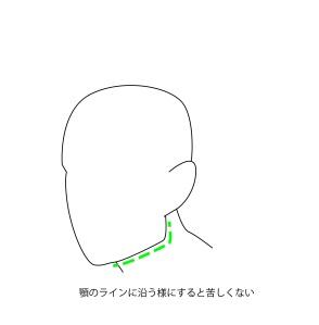 頸動脈は顎に沿う様に絞める